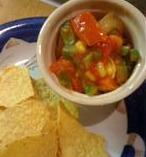Homemade Chunky Salsa and Tortilla Chips