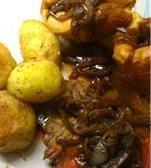 Roast Beef, Home made Yorkshire Puddings and Onion Gravy